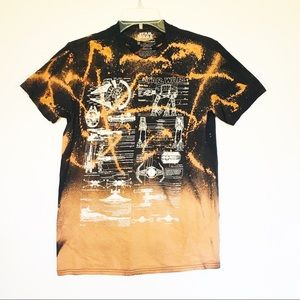 Star Wars bleached dyed T-shirt black